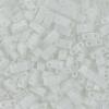 Miyuki Tila Half Cut 5X2.3mm 2Hole White Opaque